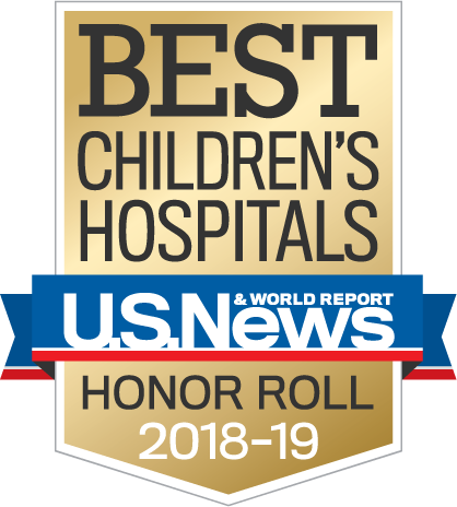 Best Children's Hospitals – U.S.News and World Report – Honor Roll 2018-19
