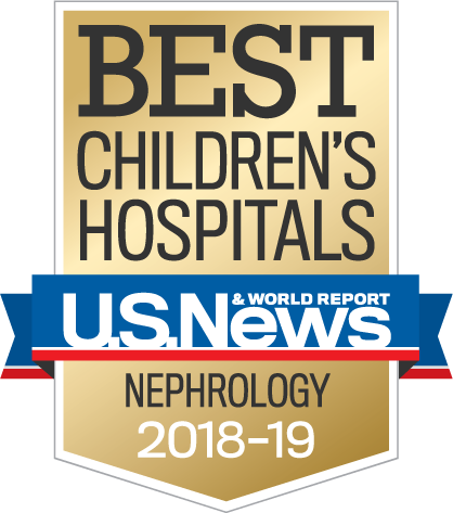 Best Children's Hospitals – U.S.News and World Report – Nephrology 2018-19