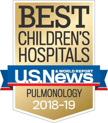 Best Children's Hospitals – U.S.News and World Report – Pulmonology 2018-19
