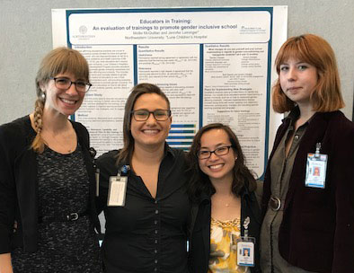 Division of Adolescent Medicine staff presenting its diverse research at the Lurie Children's Research Scholar Day.