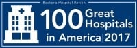 "Lurie Children's is included in Becker's Hospital Review's 2017 list of ""100 Great Hospitals in America."""