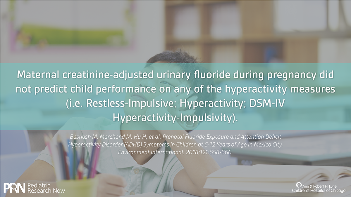 Higher Levels Of Urinary Fluoride >> High Levels Of Fluoride For Mothers And Risk For Adhd In Their
